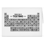 Periodic Table of Texting (b&w) Card