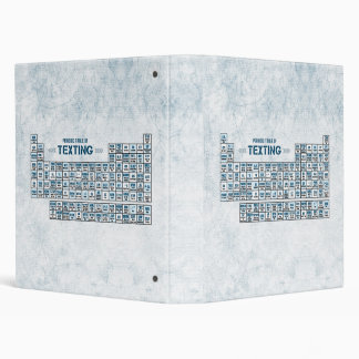 Periodic Table of Texting (Blue) Binder