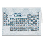 Periodic Table of Texting (Blue) Greeting Card