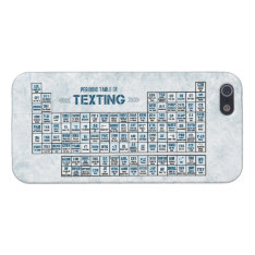 Periodic Table Of Texting (blue) Iphone Se/5/5s Case at Zazzle