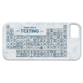 Periodic Table of Texting (Blue) iPhone SE/5/5s Case