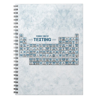 Periodic Table of Texting (Blue) Notebook