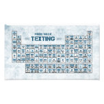 Periodic Table of Texting (Blue) Photo Print