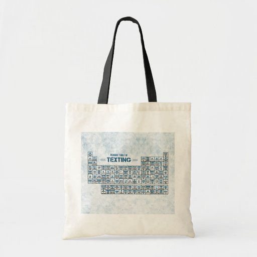 Periodic Table of Texting (Blue) Tote Bags