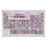 Periodic Table of Texting (Pink) Print