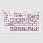 Periodic Table of Texting (Pink) Stickers