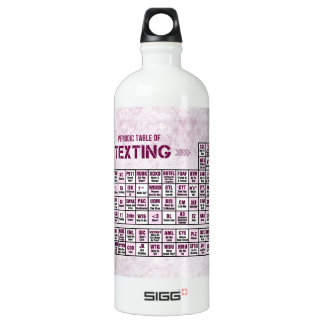Periodic Table of Texting (Pink) Water Bottle