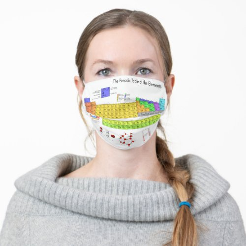 periodic table of the elements adult cloth face mask