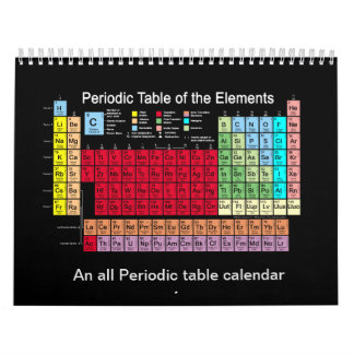 Periodic Table of the Elements Calendar