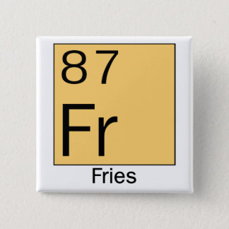 Periodic Table of the Elements: French Fries. Button