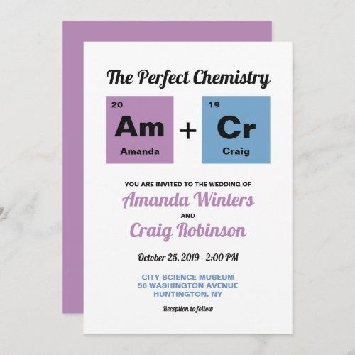 Periodic Table of the Elements Invitation