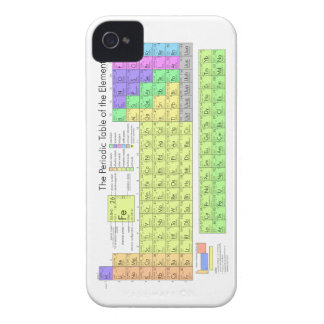 Periodic Table of the Elements iPhone 4 Case
