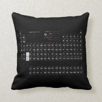 Periodic Table Of The Elements Pillow