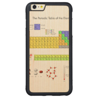 Periodic Table of the Elements Poster Science Carved® Maple iPhone 6 Plus Bumper