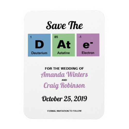 Periodic Table of the Elements Save The Date Magnet