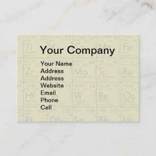Periodic table business cards templates zazzle periodic table of the elements scientific business card urtaz Gallery
