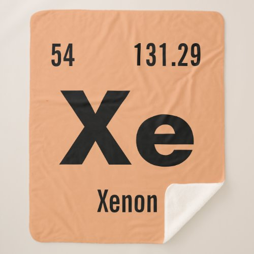 Periodic Table of the Elements Sherpa Blanket