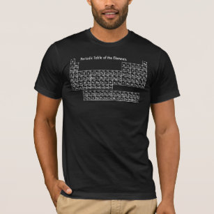 Periodic table of elements t shirts shirt designs zazzle periodic table of the elements t shirt urtaz Image collections
