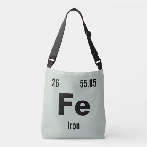 Periodic Table of the Elements Template Crossbody Bag