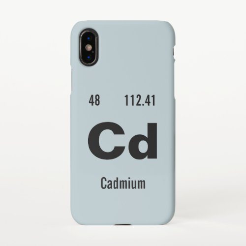 Periodic Table of the Elements Template iPhone X Case