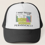 """Periodic Table of the Elements Trucker Hat<br><div class=""""desc"""">Science nerds unit</div>"""