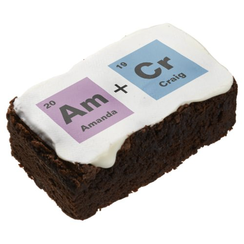 Periodic Table of the Elements Wedding Brownie