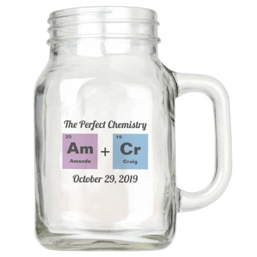 Periodic Table of the Elements Wedding Mason Jar