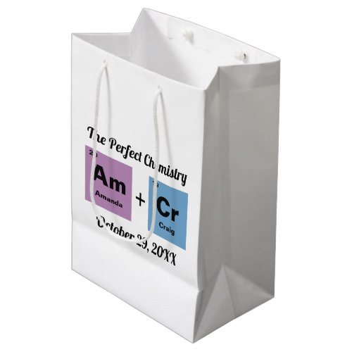 Periodic Table of the Elements Wedding Medium Gift Bag