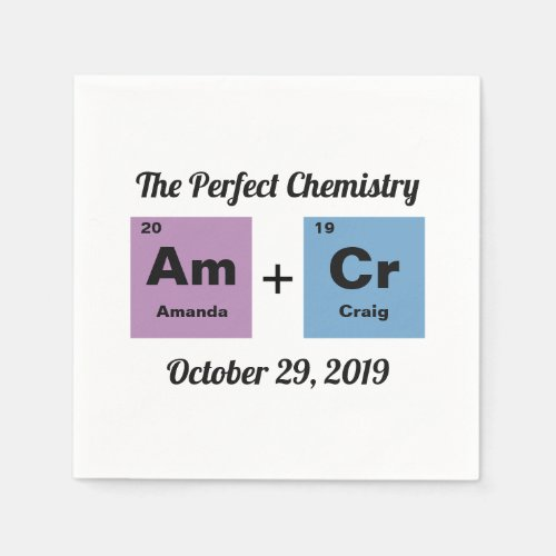 Periodic Table of the Elements Wedding Napkin