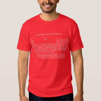 Periodic Table of the Elements - White T-Shirt