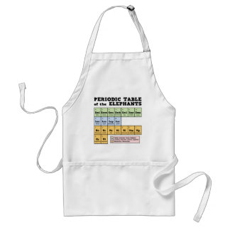 Periodic Table of the Elephants Adult Apron