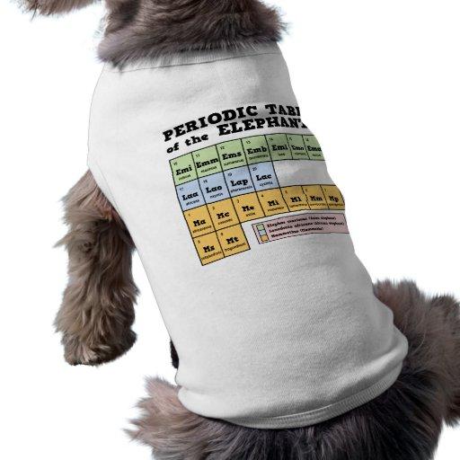 Periodic Table of the Elephants Dog Tee Shirt