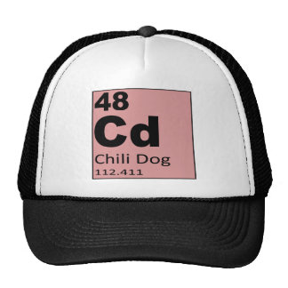 Periodic Table of the foodie  Elements: Chili Dog Trucker Hat