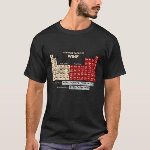 Periodic Table of Wine Dark T_Shirt