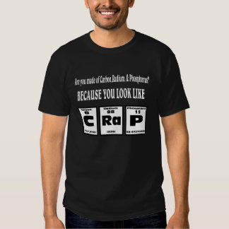 Periodic table of you look like CRAP. Shirt