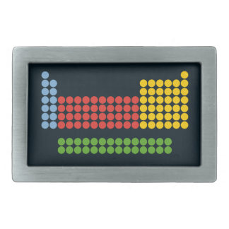 Periodic table rectangular belt buckle