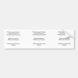 Periodic Table Secret Code Bumper Sticker