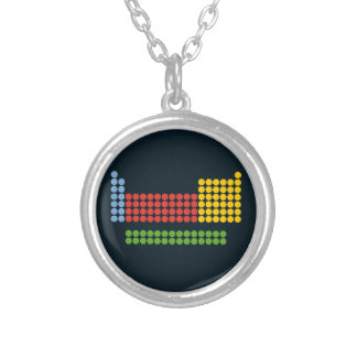Periodic table silver plated necklace