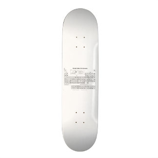 Periodic Table Skateboard Deck