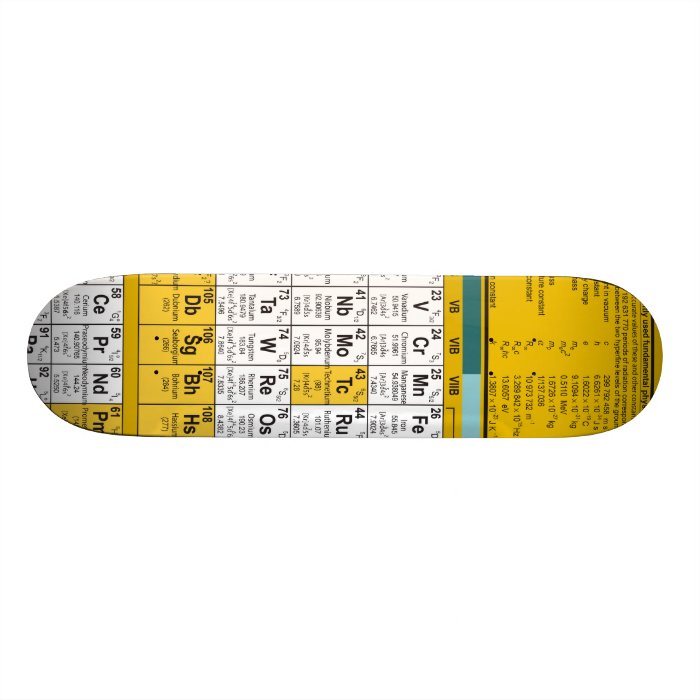 Periodic Table Skateboard
