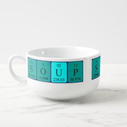 "Periodic Table ""Soup"" Soup mug"