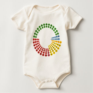 Periodic Table spiral Baby Bodysuit