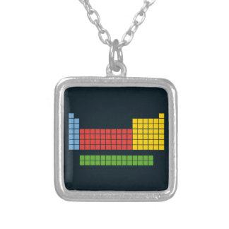 Periodic table square pendant necklace