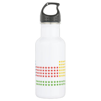 Periodic table stainless steel water bottle