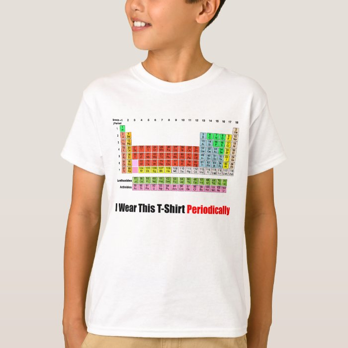 Periodic table t shirt zazzle for Custom periodic table t shirts