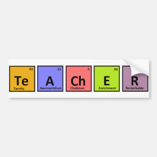 Periodic Table Teacher Appreciation Bumper Sticker