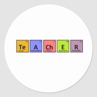 Periodic Table Teacher Appreciation Classic Round Sticker