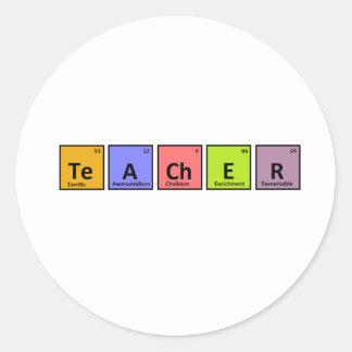 Periodic Table Teacher Appreciation Classic Round Sticker