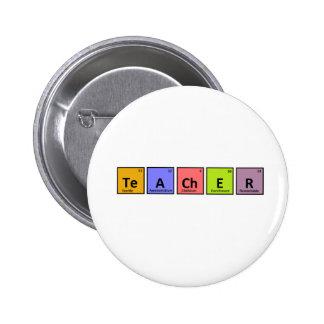 Periodic Table Teacher Appreciation Pinback Button