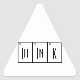 Periodic Table Think Scientist Design Geek Triangle Stickers